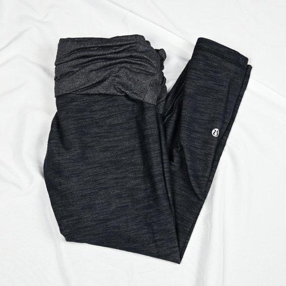 Lululemon Thick Yoga 3/4 Gray Legging High Waist